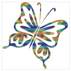 Cool Retro Butterfly Poster