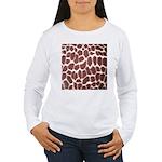 Giraffe Print Women's Long Sleeve T-Shirt
