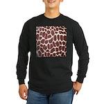 Giraffe Print Long Sleeve Dark T-Shirt
