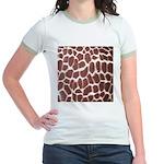 Giraffe Print Jr. Ringer T-Shirt