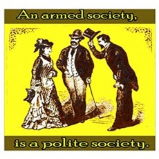 An armed society is a polite Framed Print