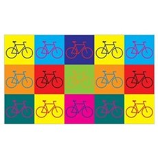 Bicycling Pop Art Poster