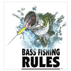 BASS FISHING RULES...STRIKE! Poster