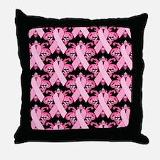 Everyday Pink Ribbon Throw Pillow