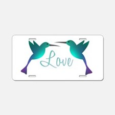 Love Birds Aluminum License Plate
