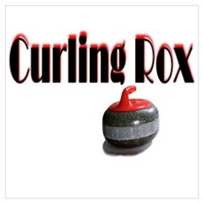 Curling Rox Framed Print