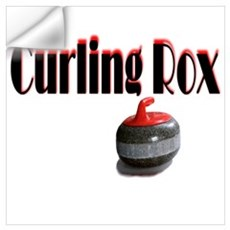 Curling Rox Wall Decal