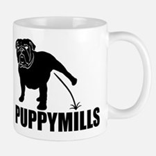 BULLDOG [pee on] PUPPYMILLS Mug