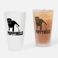 BULLDOG [pee on] PUPPYMILLS Drinking Glass