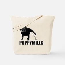 BULLDOG [pee on] PUPPYMILLS Tote Bag