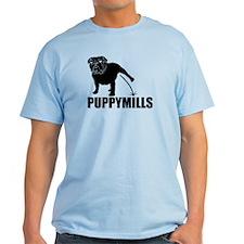 BULLDOG [pee on] PUPPYMILLS T-Shirt