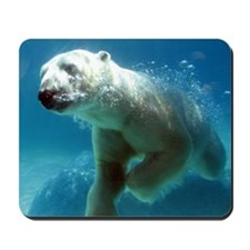Swim With The Polar Bear Mousepad