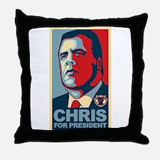 Christie For President Throw Pillow