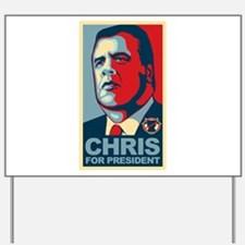 Christie For President Yard Sign