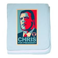 Christie For President baby blanket