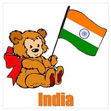 India Teddy Bear Poster