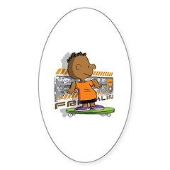 Franklin Skates Sticker (Oval)