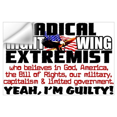 """Right Wing Extremist"" Wall Decal"