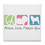 Peace, Love, Finnish Spitz Tile Coaster