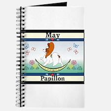 Papillon Calendar Rocking Dog Journal