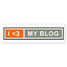 I <3 My Blog Bumper Bumper Sticker