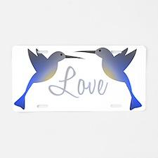 Love Birds Aluminum License Plate