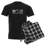 Peace, Love, Flatcoats Men's Dark Pajamas