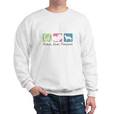 Peace, Love, Flatcoats Sweatshirt