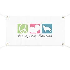 Peace, Love, Flatcoats Banner