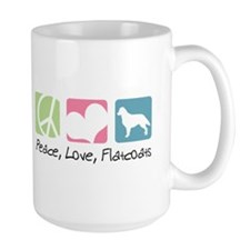 Peace, Love, Flatcoats Mug
