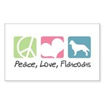 Peace, Love, Flatcoats Sticker (Rectangle 10 pk)