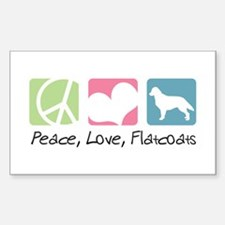 Peace, Love, Flatcoats Decal