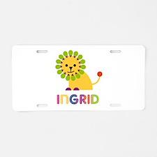 Ingrid the Lion Aluminum License Plate