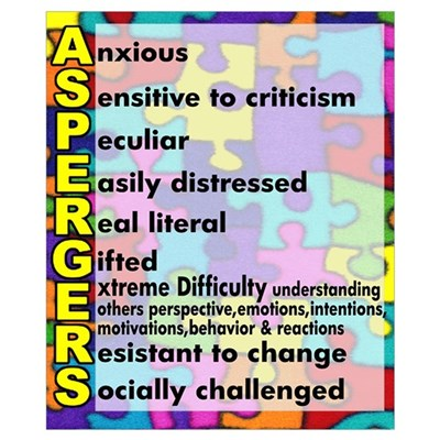 autism aspergers Poster