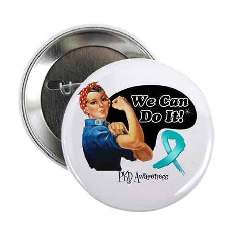"""PKD We Can Do It 2.25"""" Button (100 pack)"""