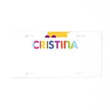 Cristina the Lion Aluminum License Plate