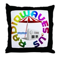 RadioWaves.US Throw Pillow