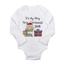 Boy First Christmas 20 Long Sleeve Infant Bodysuit