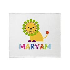 Maryam the Lion Throw Blanket