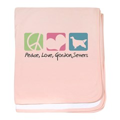 Peace, Love, Gordon Setters baby blanket