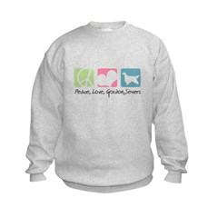 Peace, Love, Gordon Setters Sweatshirt