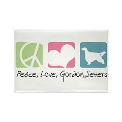 Peace, Love, Gordon Setters Rectangle Magnet