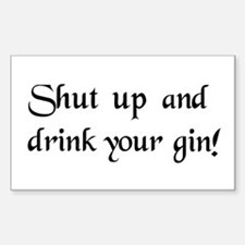 Gin Rectangle Decal
