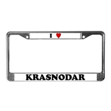 I Love Krasnodar License Plate Frame