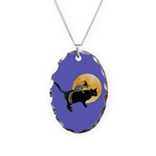 Witch Squirrel Cat Blue Necklace