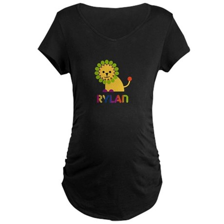 Rylan the Lion Maternity Dark T-Shirt
