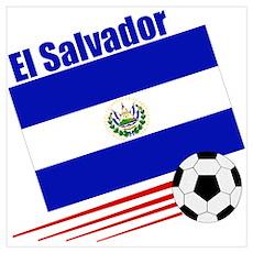 El Salvador Soccer Team Poster