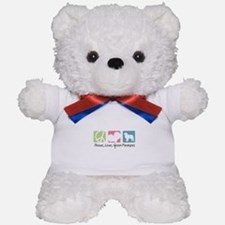 Peace, Love, Great Pyrenees Teddy Bear
