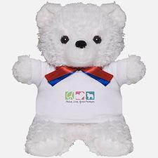 Peace, Love, Great Pyrenees Teddy Bear