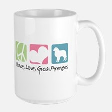 Peace, Love, Great Pyrenees Mug